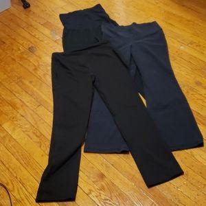 Bundle of 3 Maternity black leggings M L